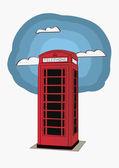 Rote Telefonzelle - London-uk — Stockvektor
