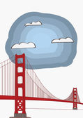Vector Illustration of the Golden Gate Bridge — Vector de stock