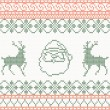 Knitted pattern with santa claus and deer — Stock Vector #47407211