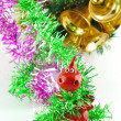 Yellow balls for Christmas tree - Stock Photo