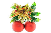 Yellow balls for Christmas tree — Stock Photo