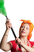 Cleaning woman 2 — Stock Photo
