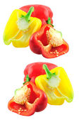 Yellow and red peppers — Stock Photo