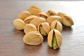 Pistachios salty shallow depth of field — Stock Photo