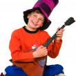 Boy with balalaika — Stock Photo #23124594