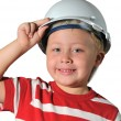 Boy with helmet — Stock Photo #23124600