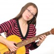 Girl with guitar 2 — Stock Photo
