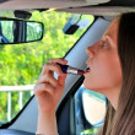 Lipstick in a car — Stock Photo