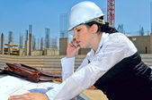 The builder of the future — Stock Photo