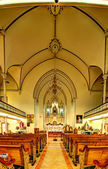 Vertorama, fragment Catholic Cathedral — Stock Photo