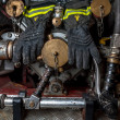 Firefighter&#039;s Gloves - Stock Photo
