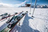 Ski on the snow — Stock Photo