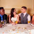 Bride and Groom with best man and bridesmaid — Stock Photo #17701121