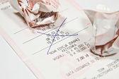 Lotto coupon — Stock Photo