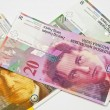 Stock Photo: Swiss Francs banknotes