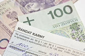 The mandate of the penalty in Poland — Stock Photo