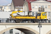 Timber freight by rail — Stock Photo