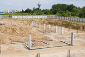 The foundations of the building site — Stock Photo