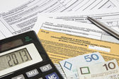 Calculating taxes in Poland, PLN currency — Stock Photo