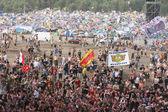 Una folla di un concerto — Foto Stock