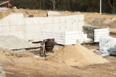 Private home construction site — Stockfoto