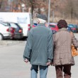 Stock Photo: Elderly couple on walk