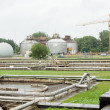Stock Photo: Sewage treatment and water