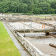 Sewage treatment and water — Stock Photo