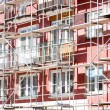 Stock Photo: Scaffolding on apartment building