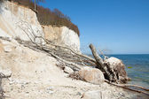 High chalk cliffs at the coast of Ruegen — Stock Photo