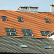 Stock Photo: Roof of apartment block