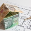 Stock Photo: Concept of building house