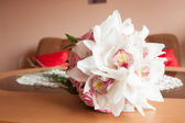 Wedding Bunch of different flowers — Stock Photo