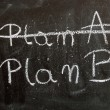 Plan on a blackboard written in chalk — Lizenzfreies Foto