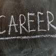 Career written in chalk on a blackboard — Stock Photo