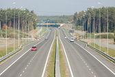 Visto a partir do viaduto da rodovia — Foto Stock