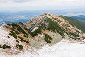 Panorama of Polish Tatra mountains — Stock Photo