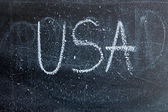 USA inscription on blackboard. — Foto de Stock