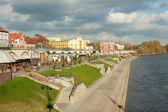 Gorzow Wielkopolski Boulevard on the Warta - Poland — Stock Photo