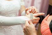 Wears Wedding Jewelry — Stock Photo
