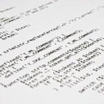 Php programming code print — Stock Photo #39260929
