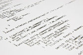 Php programming code print — Stock Photo