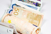 Euro currency on a white background — Stockfoto