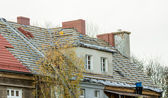 Renovation of old roof — Stock Photo