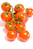 Bunch of tomatoes on white background — Stock Photo