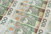 Polish money 100 zloty — Stock Photo