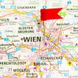 Map of the selected city Vienna, Austria — Photo