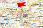 Map of the selected city Zurich, Switzerland — Stockfoto