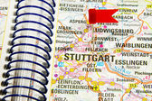 Map of the selected city Stuttgart, Germany — Stock Photo