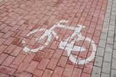 Cykelled - ett tecken — Stockfoto